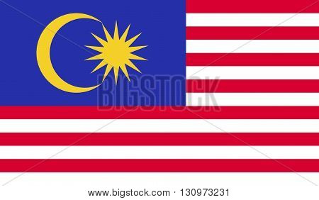 Malaysia flag image for any design in simple style