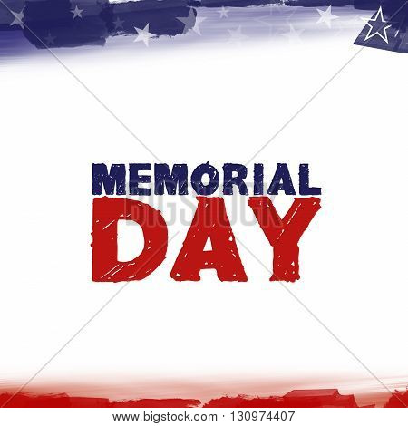 Abstract illustration with the lettering Happy Memorial Day