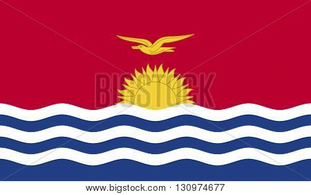 Kiribati flag image for any design in simple style