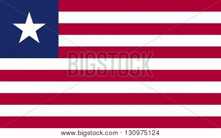Liberia flag image for any design in simple style