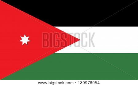 Jordan flag image for any design in simple style