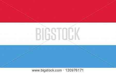 Luxembourg flag image for any design in simple style