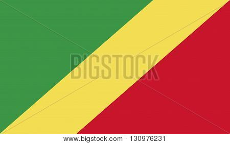 Congo flag image for any design in simple style
