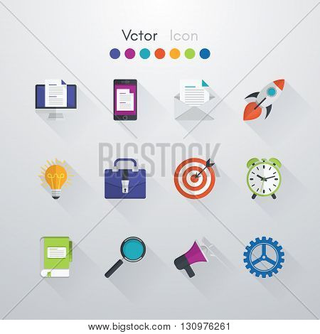 vector icons set flat design elements. Stock vector