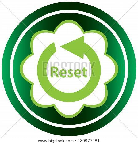 Green icon with a reset arrow symbol
