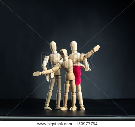 Family of wooden figures