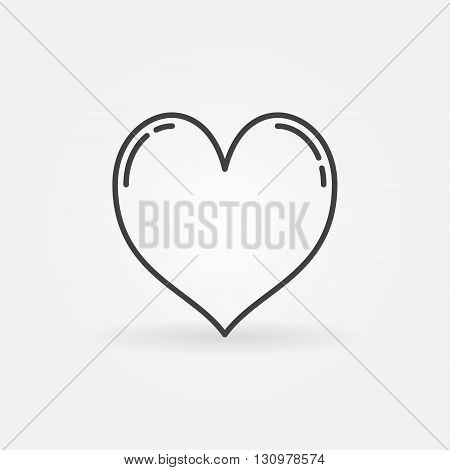 Heart line icon - vector simple heart symbol or logo element in thin line style