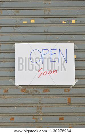 paper information on iron louver door shop
