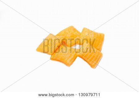 Delicious Square Cookies or Cracker with white background