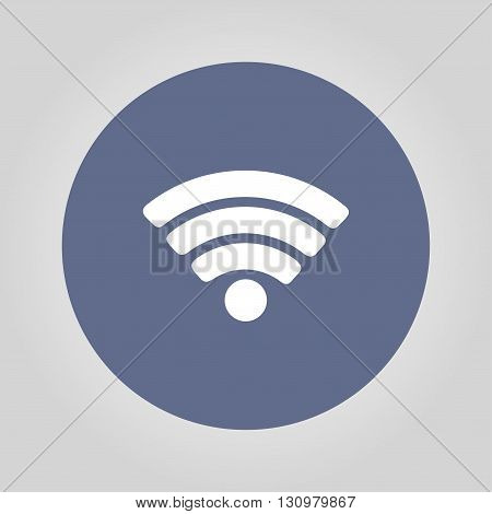 Vector Wi-Fi network icon. Flat design style eps 10