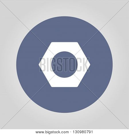 Vector nut Flat design style eps 10