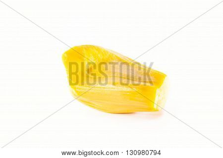 Ripped Asian Jack Fruit With White Background