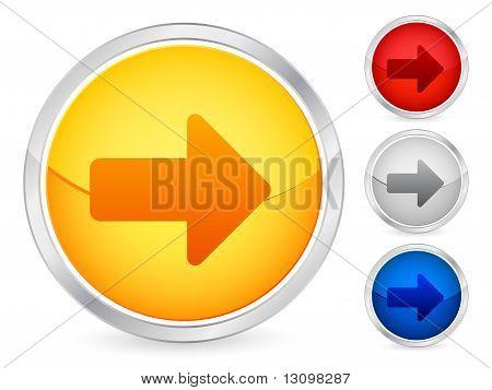 Seta para direita botão