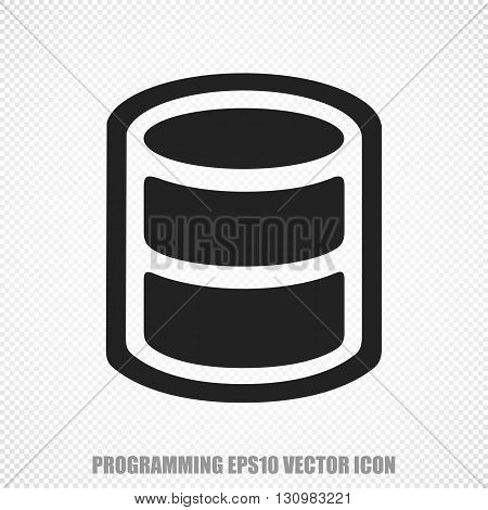 The universal vector icon on the Software theme: Black Database. Modern flat design. For mobile and web design. EPS 10.