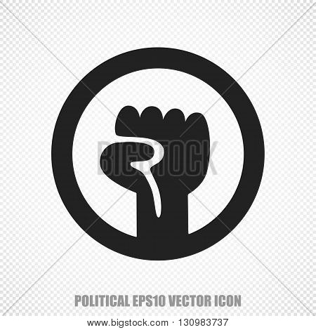 The universal vector icon on the political theme: Black Uprising. Modern flat design. For mobile and web design. EPS 10.