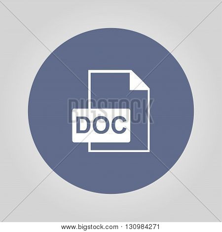 File document icon. Download doc button. Vector