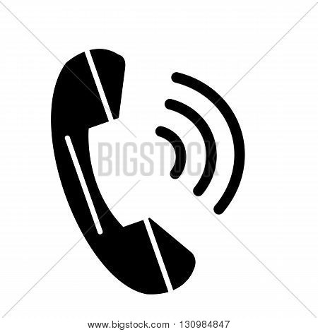 Phone icon vector contact web concept symbol call button communication.