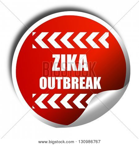 Zika virus concept background, 3D rendering, red sticker with wh