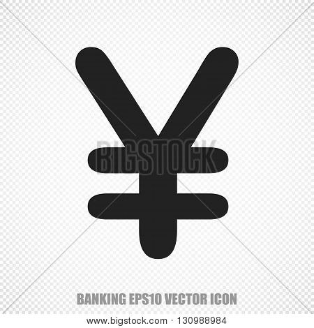 The universal vector icon on the banking theme: Black Yen. Modern flat design. For mobile and web design. EPS 10.