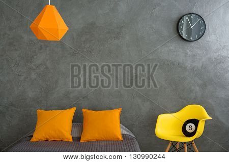 Grey And Orange Room