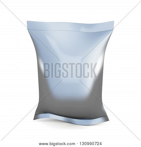 Blank packaging for snacks isolated on white background. Design food packaging. 3d rendering