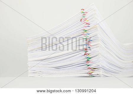 Overload Paper On White Background