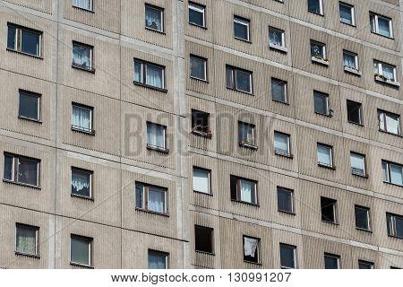 Plattenbau Building - Gdr Building Facade