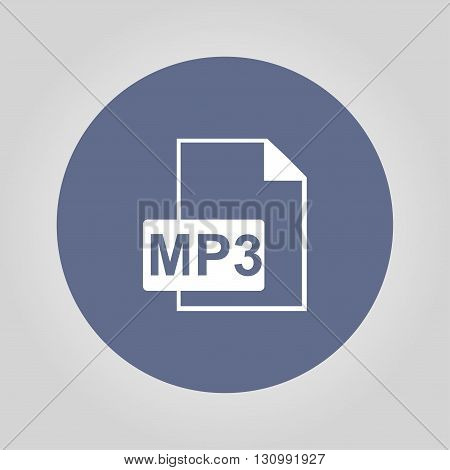 mp3 file icon. Flat design style eps 10