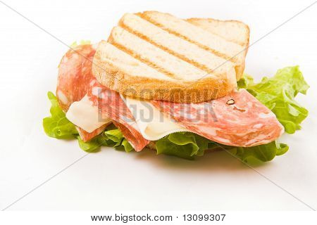 Delicious Sausage Cheese Sandwich
