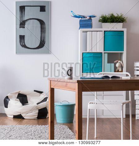 Stylish Bedroom Perfect For Football Fan Boy