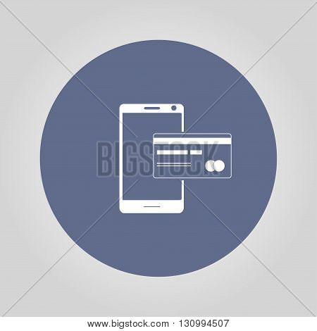 Mobile payment icon. Illustration vector EPS 10