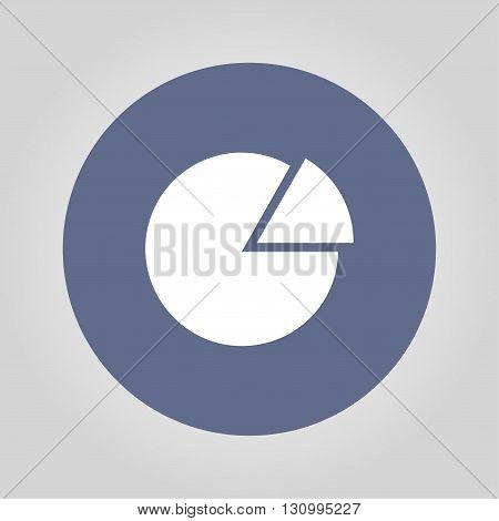 circular diagram web icon. Flat design style eps 10