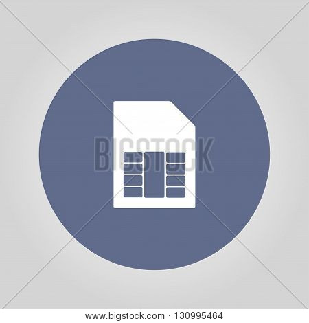 Sim card vector icon. Flat design style eps 10