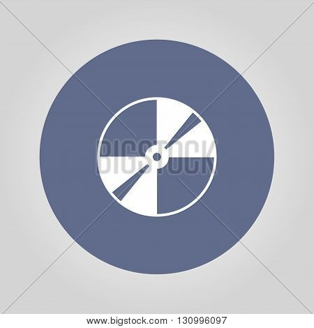 Vector CD or DVD icon. Flat design style eps 10