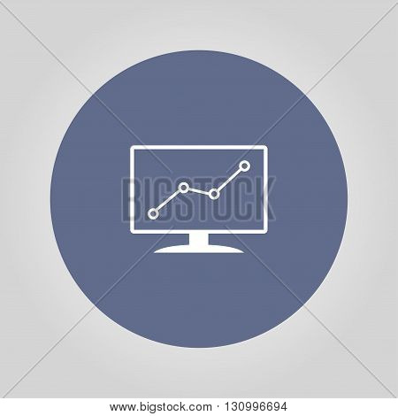 Computer monitors with different graphs vector eps10 illustration