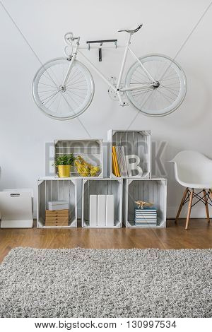 Fruit Wooden Crates As Modular Rack
