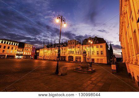 Old town square in Bydgoszcz. Bydgoszcz Kuyavian-Pomeranian Poland.