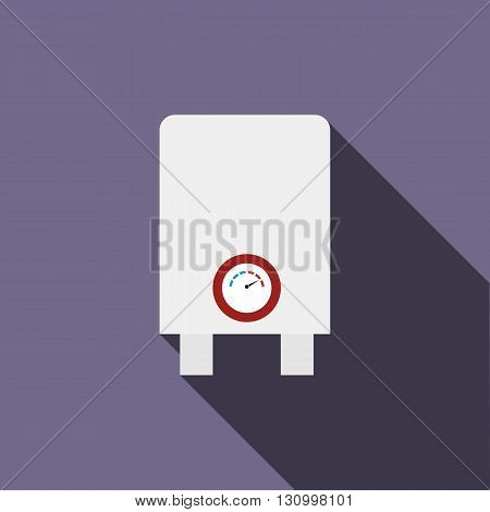 Boiler, water heater icon in flat style on a violet background
