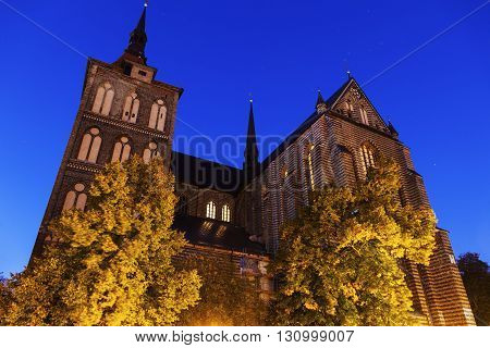St. Mary's Church in Rostock. Rostock Mecklenburg-Vorpommern Germany.