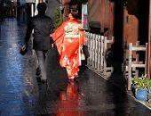 Japanese Couple Walking