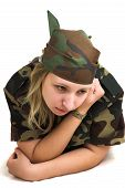 Young Woman In Military Uniform poster