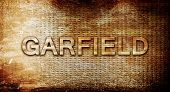 ������, ������: garfield 3D rendering text on a metal background