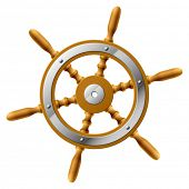 stock photo of ship steering wheel  - Vector steering wheel - JPG