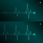 stock photo of lifeline  - ECG tracing - JPG