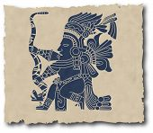 picture of iroquois  - the vector mayan and inca tribal eps - JPG