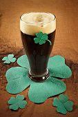 stock photo of guinness  - dark irish beer for st patick - JPG