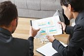 stock photo of business meetings  - Business meeting at office - JPG