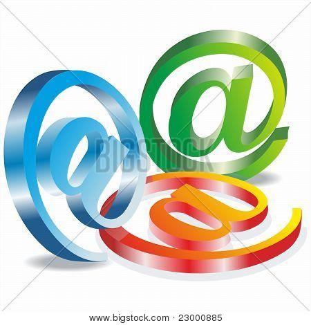 3d vector e- mail icon
