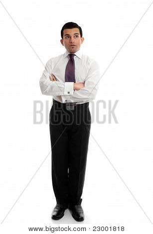 Businessman Thinking Looking Up
