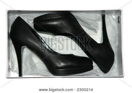 Black Shoes In Box